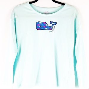 Vineyard Vines Whale Long Sleeve Tee